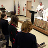 1-12-14<br /> Christ the King Anglican Church<br /> The congregation of Christ the King Anglican Church has their Sunday morning service in IUK's observatory lecture hall after their building was destroyed in the Nov. 17 tornado.<br /> KT photo | Kelly Lafferty