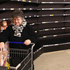 1-8-14<br /> Kroger low on bread<br /> Beverly Broker shops for bread at Kroger on Washington St. on Wednesday.<br /> KT photo | Kelly Lafferty