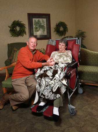1-14-14<br /> Don and Louise Thomas have been married for 60 years. Louise, who was diagnosed with Alzheimer's in 2005, doesn't remember Don or her children.<br /> KT photo | Kelly Lafferty