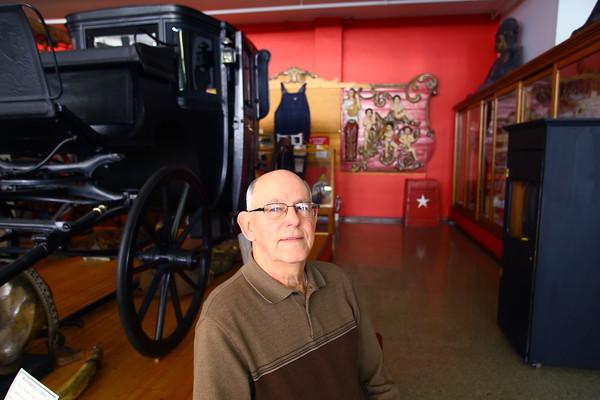 Miami County Museum <br /> Miami County Historical Society President Gary Hawley<br />  Wednesday Jan. 15, 2015.<br /> Tim Bath | Kokomo Tribune
