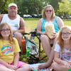 7-28-12<br /> Out and About Foster Park Summer concert series<br /> Front: Daphne Reecer and Shelby Wells<br /> Back: Andy and Kathy Reecer<br /> KT photo | Kelly Lafferty