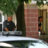 7-25-12<br /> Kokomo police storm apartment B12 in Gateway Gardens after getting a tip that a murder suspect may be in their.<br /> KT photo | Tim Bath