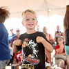 7-18-12<br /> Books for Youth<br /> 5-year-old Porter McKillip imitates a duck during a game at Haynes International as part of the kickoff for the Books for Youth Campaign.<br /> KT photo | Kelly Lafferty
