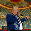 7-17-12<br /> The Great Wallendas<br /> Ringmaster John Fugate announces the Great Wallenda Family act on the high wire at the Big Top Performance at the Circus Hall of Fame.<br /> KT photo | Kelly Lafferty