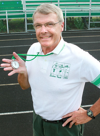 7-6-12<br /> Coach Nicholson <br /> After more than 30 years of coaching Eastern High School boys track, Coach Paul Nicholson is retiring.<br /> KT photo | Kelly Lafferty