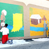 7-17-12<br /> Mural being painted on the side of the downtown bus station by volunteers from the Kokomo Art Association and kids from the YMCA's ARISE(Attitude Respect Initiative Service Education) program.<br /> KT photo | Tim Bath