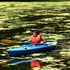 7-30-12<br /> Camp at the YMCA Camp Tycony finishing up the summer season with one of the weekly passtimes of canoeing and Kayaking. Brayton Lewis, 10, navigating his way through the pond.<br /> KT photo | Tim Bath