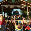 7-28-12<br /> Foster Park pavilion<br /> The audience in Foster Park cheer and applaud the Misfit Toys after their performance on Saturday.<br /> KT photo | Kelly Lafferty