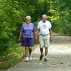 7-7-12<br /> People bike and walk down the Nickel Plate trail<br /> Janice and David Webb walk the Nickel Plate trail on Saturday morning.<br /> KT photo | Kelly Lafferty