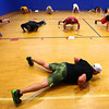 7-2-13<br /> Insanity Workout at YMCA<br /> Participants get their exercise during the Insanity workout at the YMCA on Tuesday.<br /> KT photo   Kelly Lafferty