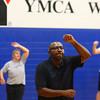 7-2-13<br /> Insanity Workout at YMCA<br /> Troy Walker exercises to the Insanity workout at the YMCA on Tuesday.<br /> KT photo   Kelly Lafferty