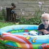 7-5-13<br /> Out and about Schuler Drive<br /> Grayson Williams, 2, spends time in a pool on Schuler Drive. <br /> KT photo   Kelly Lafferty