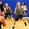 7-2-13<br /> Insanity Workout at YMCA<br /> Abby Henneger participates in the Insanity workout at the YMCA on Tuesday.<br /> KT photo   Kelly Lafferty