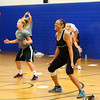 7-2-13<br /> Insanity Workout at YMCA<br /> Karen Johnson and the other participants experience the Insanity workout at the YMCA on Tuesday.<br /> KT photo   Kelly Lafferty