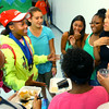 7-30-14<br /> A party was held in honor of Tionna Brown a three event winner in the USA Track & Field Junior Olympic national meet. Tionna( in neon green) with friends who are there supporting her.<br /> Tim Bath | Kokomo Tribune