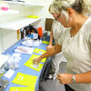 7-9-14 <br /> Nurses Andrea Stonestreet and Kristie Shirey prepare meds for one of the inmates that has mental health problems at the Howard County Criminal Justic Center.<br /> Tim Bath | Kokomo Tribune