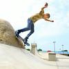 7-29-14<br /> Peru Skate Park at 400 West Canal Street in Peru. Seth Anderson, 14, on his skateboard at the park.<br /> Tim Bath | Kokomo Tribune