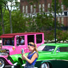 7-4-14<br /> Haynes Apperson Friday<br /> Bailey Shaffer takes pictures of some of the cars at the Haynes Apperson car show on Friday.<br /> Kelly Lafferty   Kokomo Tribune