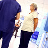 7-9-14 <br /> Nurse Kristie Shirey talking with an inmate who she questioned about his meds for mental illness at the Howard County Criminal Justic Center.<br /> Tim Bath | Kokomo Tribune