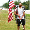 7-25-14<br /> Eric Peters, a 23-year-old Army veteran who served in Afghanistan, has walked from New Jersey to Peru, Ind. and plans to continue walking to California while raising awareness for Post Traumatic Stress Disorder.<br /> Kelly Lafferty | Kokomo Tribune