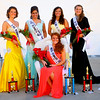 7-8-14<br /> Howard County Fair. Fair Queen Caitlyn O'Neal sitting with her court behind her Erin Weber, Allie dicken, Sara Fye and Marie Hunkeler.<br /> Tim Bath | Kokomo Tribune