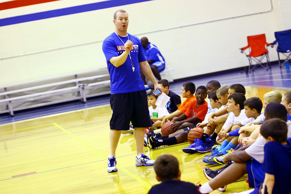 7-23-14 <br /> KHS boys basketball coach Matt Moore holding a basketball clinic for kids in grade 1-8.<br /> Tim Bath | Kokomo Tribune