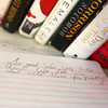 7-10-14<br /> Micro library<br /> A handwritten note was left in the notebook by a patron of Melanie Waggoner's Little Free Library.<br /> Kelly Lafferty | Kokomo Tribune
