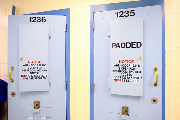 7-9-14 <br /> Padded cells for when a prisoner becomes a danger to himself at the Howard County Criminal Justic Center.<br /> Tim Bath | Kokomo Tribune