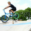 7-29-14<br /> Peru Skate Park at 400 West Canal Street in Peru. Levi Cunningham, 14, on his bike at the park.<br /> Tim Bath | Kokomo Tribune