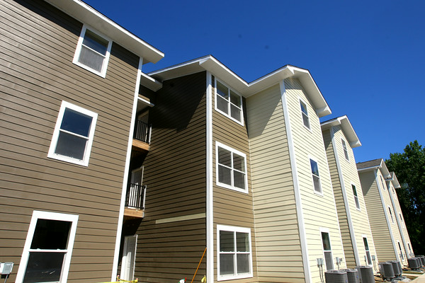 7-24-14 <br /> The Annex student housing across from IUK opening in August.<br /> Tim Bath | Kokomo Tribune