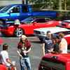 7-4-14<br /> Haynes Apperson Friday<br /> A group hangs out at the car show during the Haynes Apperson Festival on Friday.<br /> Kelly Lafferty | Kokomo Tribune