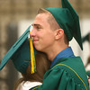 6-8-14<br /> Eastern Graduation<br /> Eastern senior Darren Bellow hugs classmate Hannah Perryman before the start of the graduation ceremony on Sunday.<br /> Kelly Lafferty | Kokomo Tribune