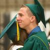 6-8-14<br /> Eastern Graduation<br /> Eastern senior Darren Bellow hugs classmate Hannah Perryman before the start of the graduation ceremony on Sunday.<br /> Kelly Lafferty | Kokomo Tribune