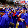 6-6-14   --- Allen Davis(right) moves his tassle at KHS Graduation. --<br />   Tim Bath | Kokomo Tribune