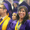 6-7-14<br /> Northwestern Graduation<br /> Senior Allie Dicken laughs during Northwestern High School graduation ceremony on Saturday morning.<br /> Kelly Lafferty | Kokomo Tribune