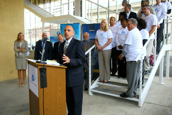 6-30-14   --- Gov. Mike Pence was in Kokomo for the announcement of a new high tech company, Systems in Motion LLC, who is expanding operations with about 240 new jobs here.<br /> Mayor Greg Goodnight talks about what the new jobs mean to Kokomo. --<br />   Tim Bath | Kokomo Tribune