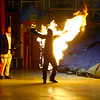 6-14-14   --- The Human Fuse, Brian Miser, is shot over a hundred feet while lit on fire at the Peru Circus Building. --<br />   Tim Bath | Kokomo Tribune