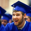5-31-14<br /> Tipton graduation<br /> William Barnett laughs during a speech at Tipton's graduation ceremony.<br /> Kelly Lafferty | Kokomo Tribune