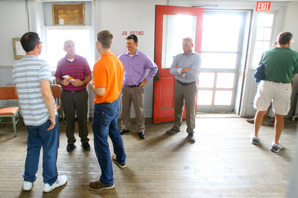 6-11-14   --- Mayor's Night Out held at the train depot on Buckeye Street. Mayor Greg Goodnight talks with citizens that stopped by the old train depot.  --<br />   Tim Bath | Kokomo Tribune