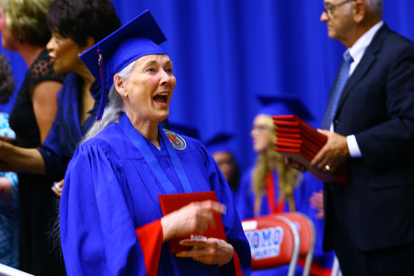 6-6-14   --- Vickie Turley after crossing the stage at KHS Graduation. --<br />   Tim Bath | Kokomo Tribune