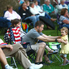 6-12-14<br /> Kokomo Park Band<br /> James Cesare dances with his 2-year-old daughter Evamarie during the Kokomo Park Band's concert in Highland Park on Wednesday.<br /> Kelly Lafferty | Kokomo Tribune
