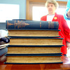 6-9-14   --- The Delphian Reading Club. A stack of the original books that started the study club that transformed into a reading club. --<br />   Tim Bath | Kokomo Tribune