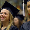 6-6-14<br /> Western Graduation<br /> Breanna Buckalew smiles as she watches others from Western's senior class walk across the stage for their diplomas.<br /> Kelly Lafferty | Kokomo Tribune