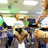 6-17-14   --- iRead summer reading program to help those kids with that are struggling with reading. Kids in the iRead breakout group are Eli Griffis, Kaayden Wright, Larry Hamilton, Madison Grimes and Sabrial Stigger all working with IUK student teacher Cody Helson. --<br />   Tim Bath | Kokomo Tribune