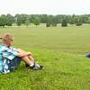 6-24-14<br /> Erica Collins photographs her two oldest kids Aspen, 9, and Brenden, 7, at Jackson Morrow Park.<br /> Kelly Lafferty   Kokomo Tribune