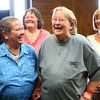 6-26-14<br /> Same-sex weddings<br /> Maria Hockersmith and Barbara Asay share a lighthearted moment with their witnesses Terrie Carrico and Faith Redding during their marriage ceremony at the Howard County Courthouse on Thursday afternoon. Hockersmith and Asay will be celebrating their 25th anniversary of being together this weekend.<br /> Kelly Lafferty | Kokomo Tribune
