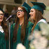 "6-8-14<br /> Eastern Graduation<br /> Chloe Unrein, Caitlin Haynes, and Hannah Perryman sing the senior song, ""I'll Be There For You"" during Eastern's graduation ceremony.<br /> Kelly Lafferty 
