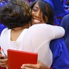 6-6-14   --- Ma-Ryssa Martin hugs her mother Carmalita Thomas after walking the stage at KHS Graduation. --<br />   Tim Bath | Kokomo Tribune