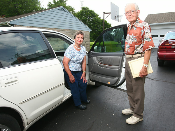 """Marcelline and Richard """"Dick"""" Allen have been married for 60 years.<br /> Kelly Lafferty   Kokomo Tribune"""