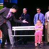 5-29-14<br /> Bye Bye Birdie dress rehearsal<br /> Kevin Boucher sings a song to Henley Harmeson during dress rehearsal for Bye Bye Birdie.<br /> Kelly Lafferty | Kokomo Tribune